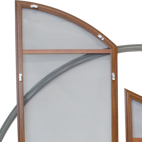 Ready-made mosquito screens - arched doors